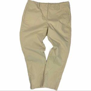 J. Jill Live-In Chino Beige Crop Pants Size 6